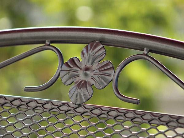 Metal garden seat restoration