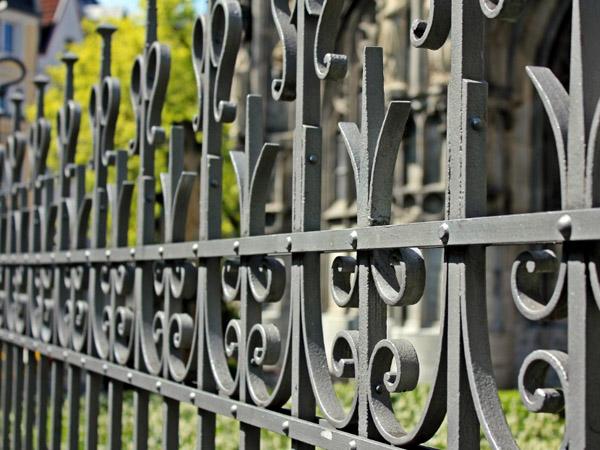 Metal fence designed and made